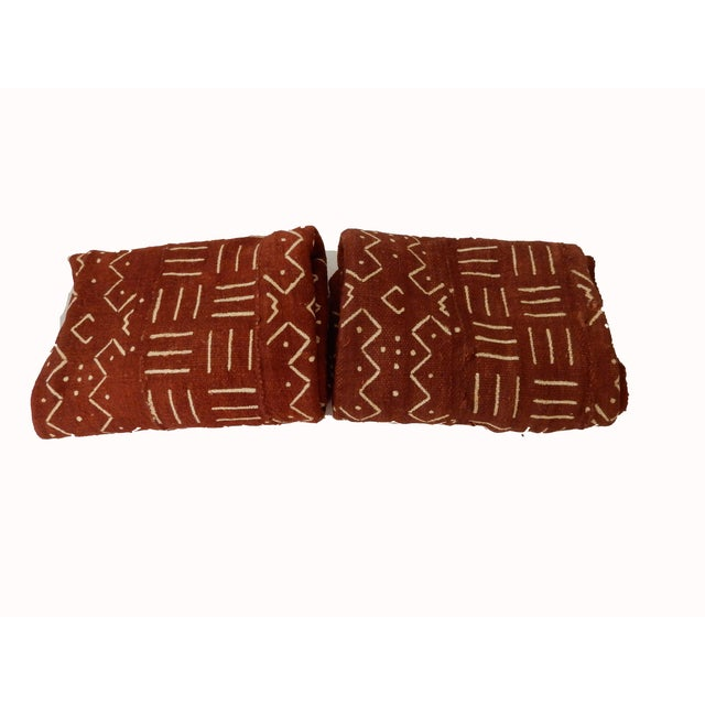 African Chocolate & Ivory Mud Cloth - Pair - Image 9 of 9
