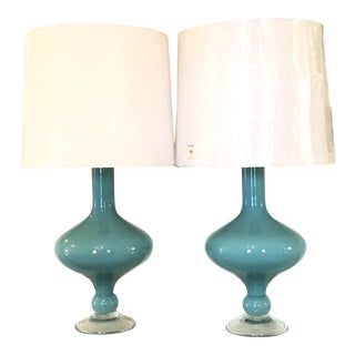 Arteriors Rory Lamps With Silk Shades - a Pair For Sale