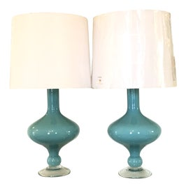 Image of Blue Table Lamps