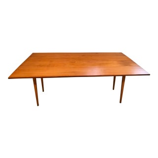 "Eldred Wheeler Large Cherry 74"" Harvest Table For Sale"