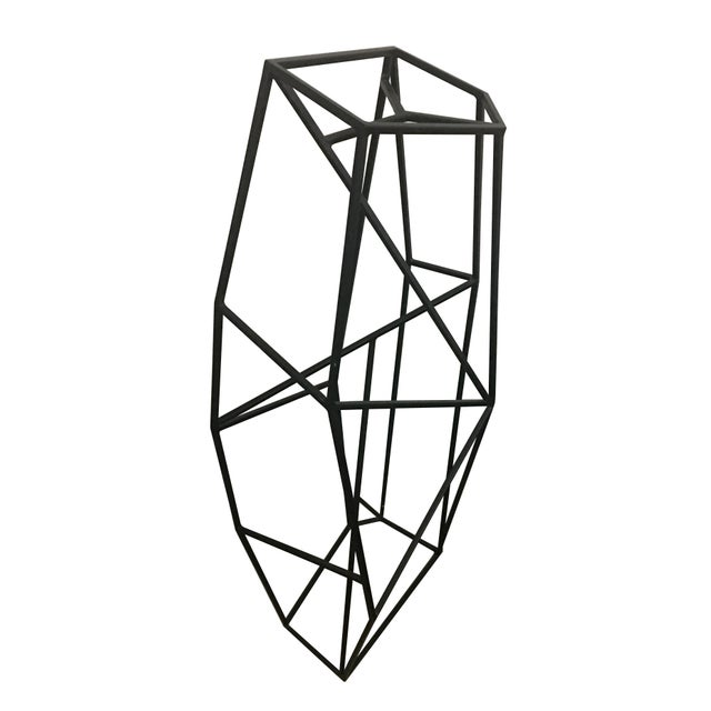 Abstract Large Abstract Geometric Steel Sculpture For Sale - Image 3 of 5