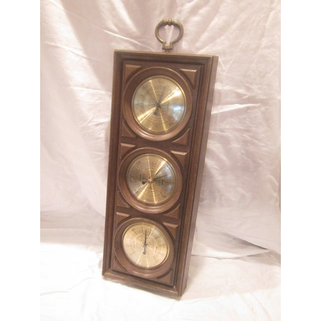 Gold Mid-Century Springfield Thermometer, Barometer, and Humidity Meter For Sale - Image 8 of 8