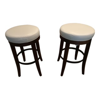 Lee Industries Swivel Bar Stools - A Pair For Sale
