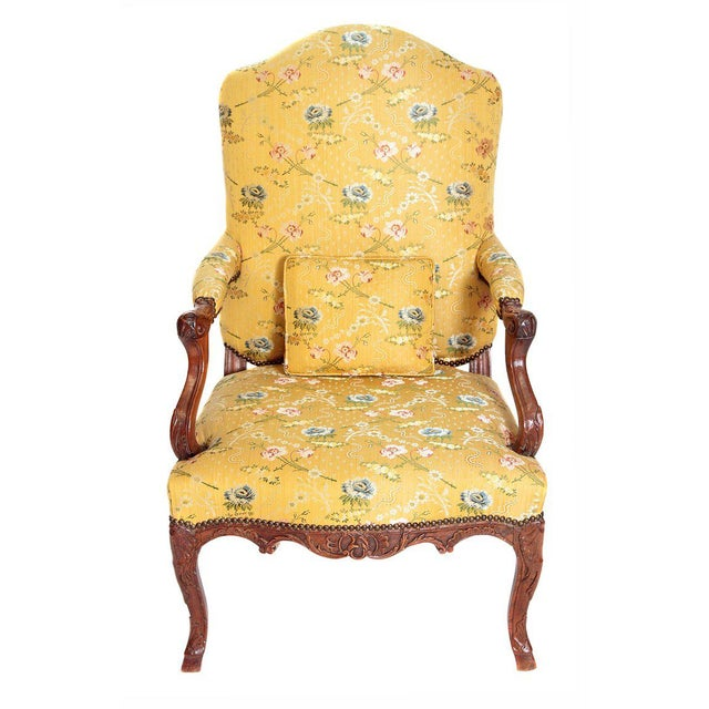 A Early 18th Century Walnut Regence Armchair For Sale - Image 13 of 13