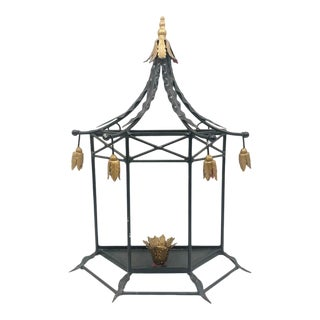 Hollywood Regency Pagoda Wall Mount Candle Sconce For Sale