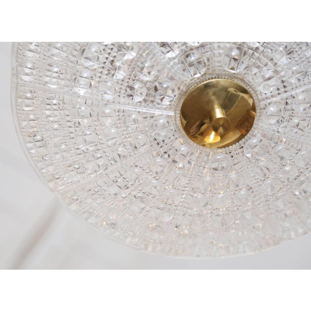Mid 20th Century Carl Fagerlund for Orrefors Bubble Crystal Duel Disc Chandelier, Circa 1960s For Sale - Image 5 of 6