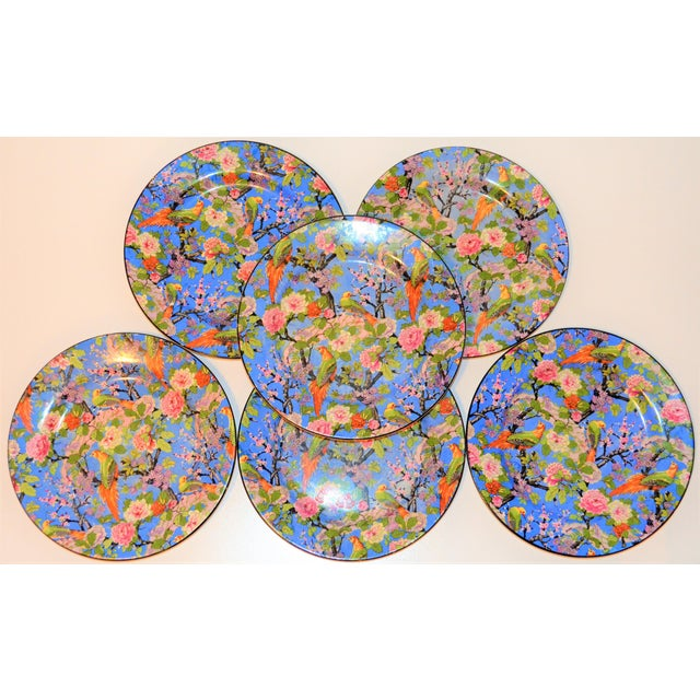 These are a set of Crown Ducal Wear's antique Blue Chintz plates. They feature black trim and both have two-handles. This...