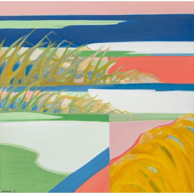 1970s Abstract Landsacpe by Tadashi Asoma For Sale - Image 5 of 5