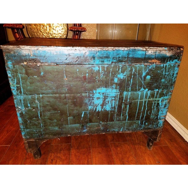 18c Scandinavian Hand Painted Pine Chest For Sale - Image 4 of 11