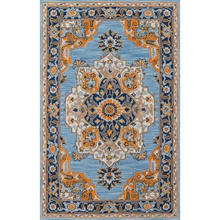Ibiza Blue Hand Tufted Area Rug 8' X 10' For Sale