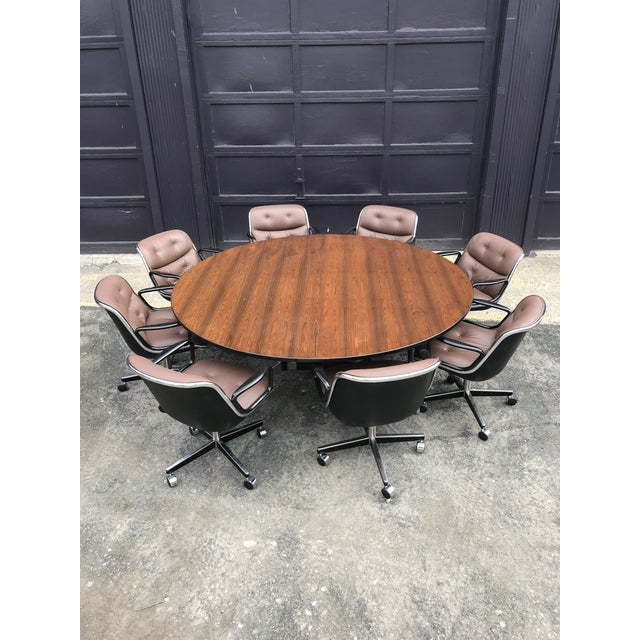 """Wood 78""""d Eames Herman Miller Rosewood Conference Table For Sale - Image 7 of 12"""