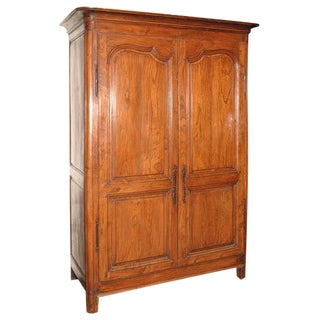 Antique Fruitwood Armoire For Sale