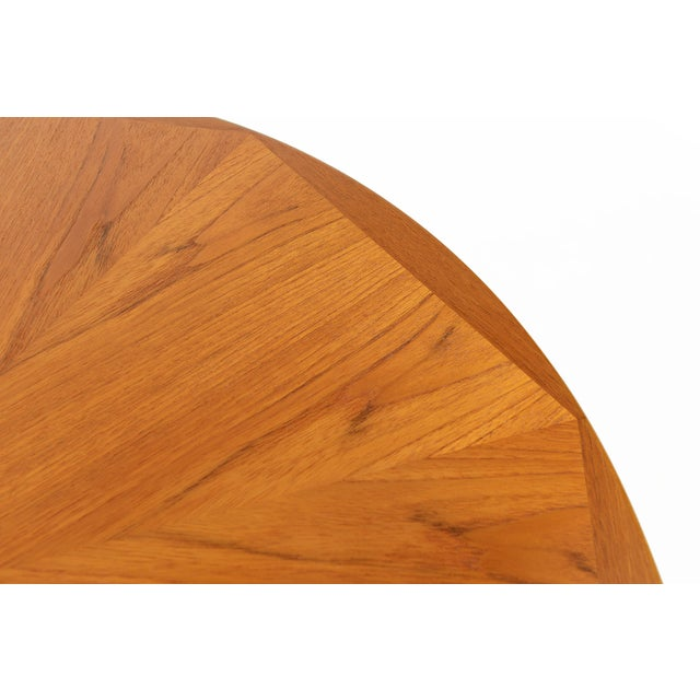 Danish Modern Round Starburst Teak Coffee Table - Image 8 of 9