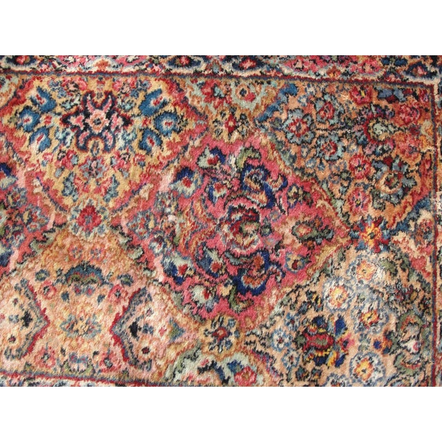Vintage Mid-Century Karastan Kirman Wool Area Rug - 2′2″ × 4′ For Sale - Image 4 of 8