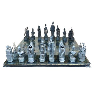 Custom Bruce Friedle Chess Set With Copy of Original Receipt For Sale