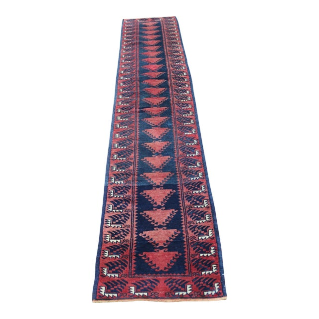 Turkish Hand Made Runner - 1′9″ × 9′5″ - Image 1 of 8