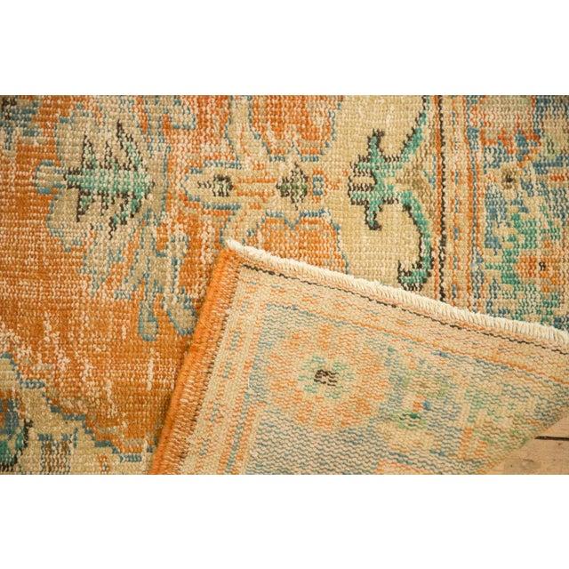 "Blue Vintage Distressed Oushak Carpet - 6'4"" X 9'3"" For Sale - Image 8 of 13"