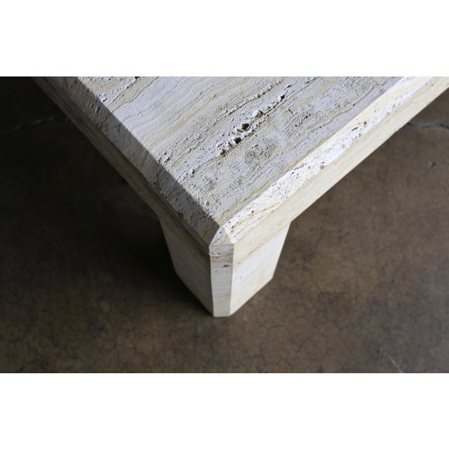 Travertine Coffee Table Circa 1980 For Sale In Los Angeles - Image 6 of 13