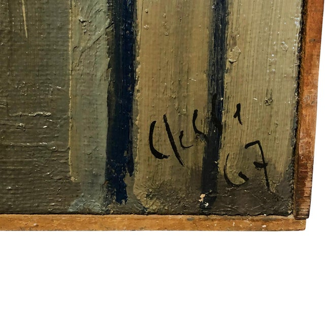 Abstract 20th Century Abstract Books on a Console Painting by Daniel Clesse For Sale - Image 3 of 5