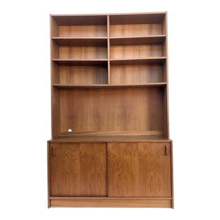 Mid 20th Century Scandinavian Modern Bookcase in Vintage Teak For Sale