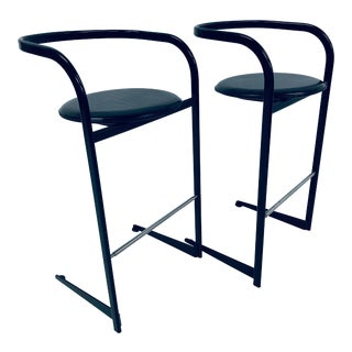 Toshiyuki Kita Postmodern Bar Stools for Icf by Atelier - a Pair For Sale