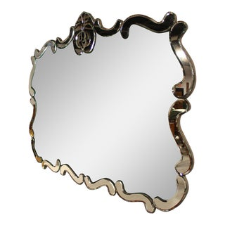 Vintage 20th Century Venetian Style Wall Mirror For Sale