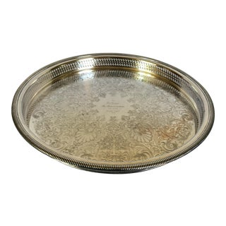 Vintage International Silver Plated Serving Tray