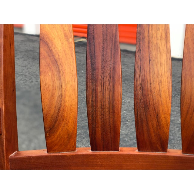 Cherry Wood Vintage Mid Century Studio Crafted Rocking Chair For Sale - Image 7 of 13