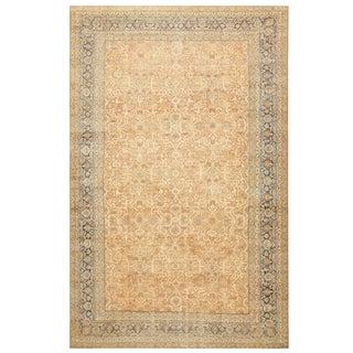 Large Decorative Antique Persian Lavar Kerman Rug - 11′6″ × 16′9″ For Sale