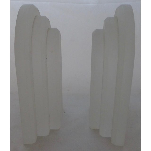 Vintage Frosted Lucite Bookends - A Pair For Sale - Image 4 of 8