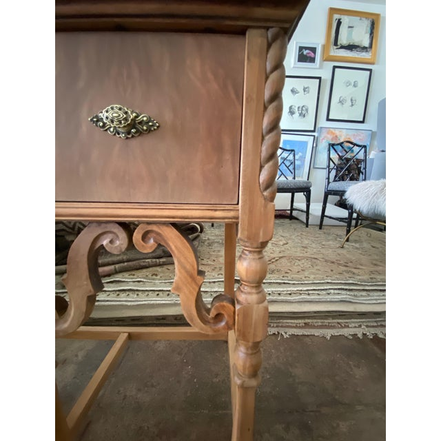 Vintage Victorian Style Karpen Vanity With Mirror For Sale - Image 9 of 12