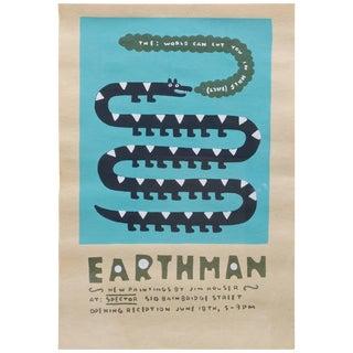 Jim Houser Earthman Silkscreen Spector Gallery Artwork Philly Margaret Kilgallen For Sale