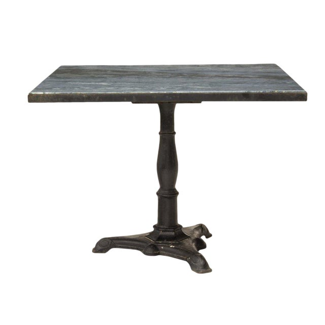 'Azul Do Mar' Quartzite French Bistro Dining Table For Sale