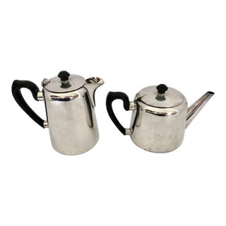 Mid-Century British Silver Coffee and Tea Pots For Sale