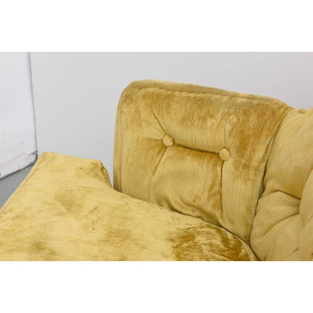 Mid-Century Modern High Back Swivel Tufted Rocker/Lounge Chairs--1960s For Sale - Image 3 of 8