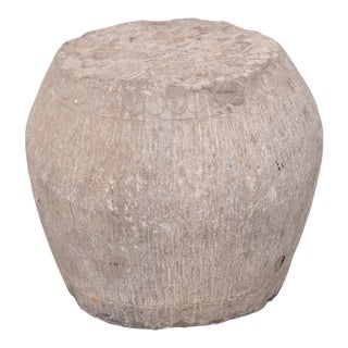19th Century Petite Chinese Stone Drum For Sale