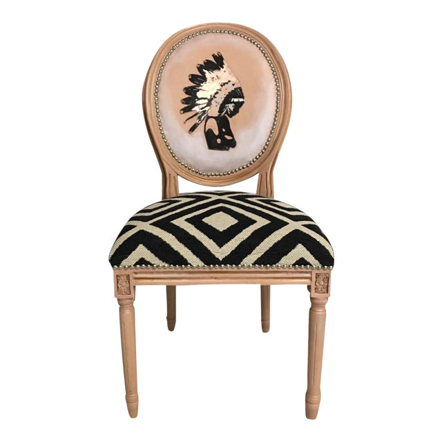 Boho LouisXVI Accent Chair - Image 1 of 6