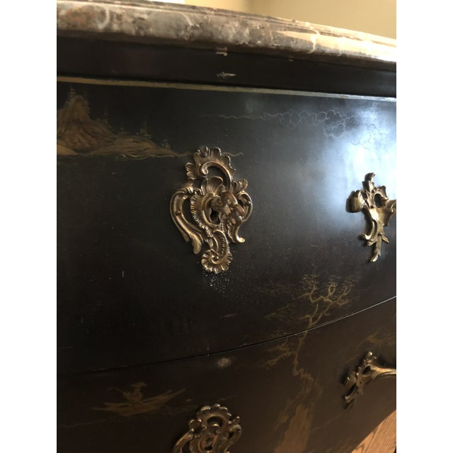 Early 20th C. Chinoisere Marbletop Louis XV Commode For Sale In Houston - Image 6 of 11