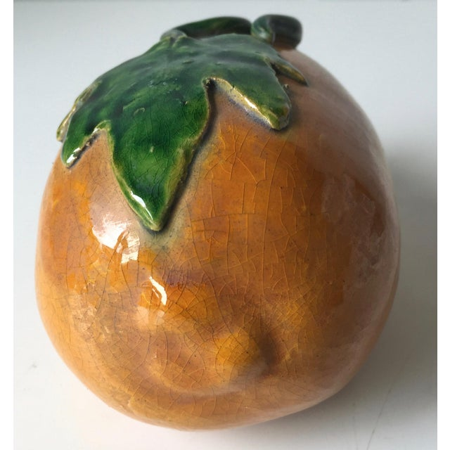 Mid 19th Century Antique Chinese Majolica Altar Fruit-Melon For Sale - Image 5 of 10