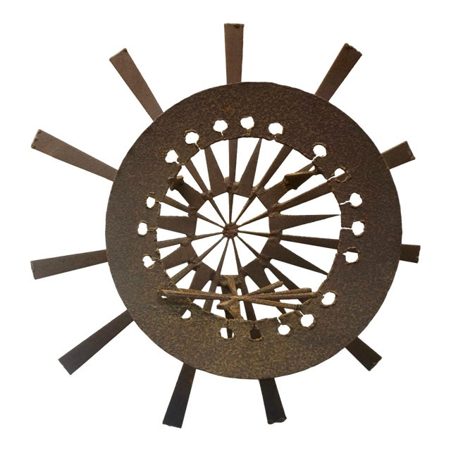 Torch Cut Brutalist Wall Sculpture For Sale
