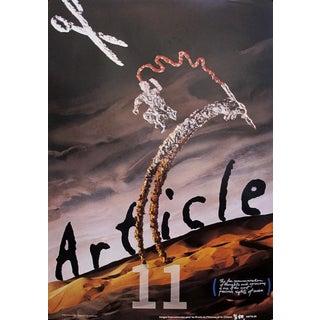 1989 Original Poster for Artis 89's Images Internationales Pour Les Droits De l'Homme Et Du Citoyen - Article 11 Desert For Sale