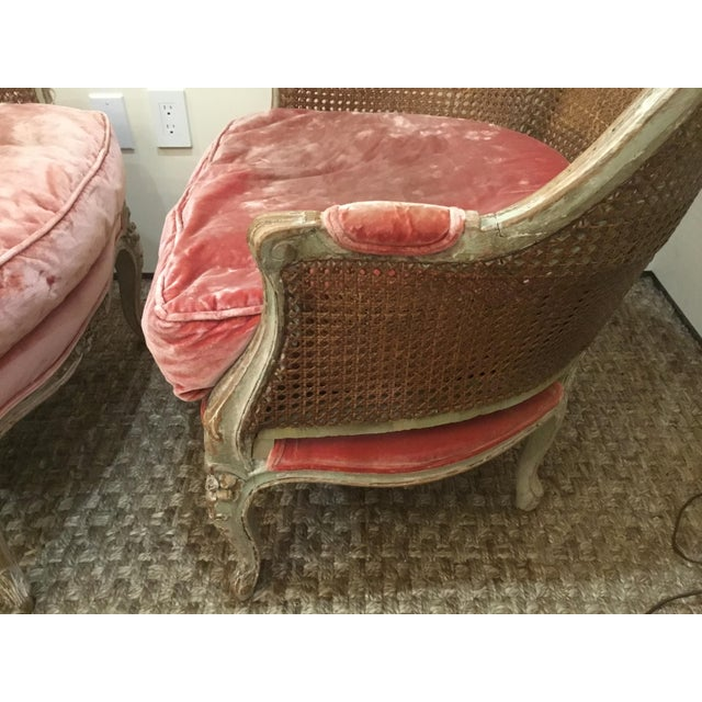 Late 18th Century French Cane Bergere Chairs- a Pair For Sale - Image 4 of 13