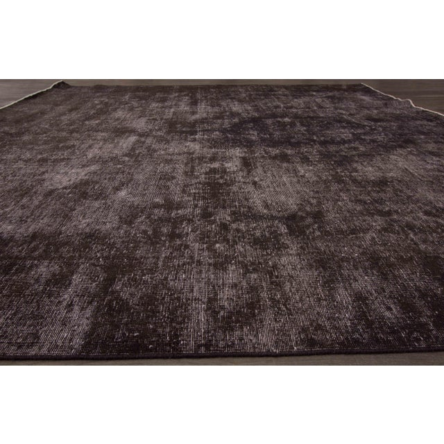 1920s Vintage Wool Overdyed Rug For Sale - Image 5 of 7