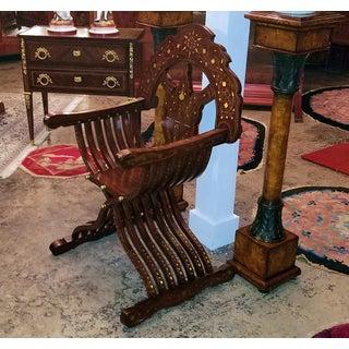 Syrian Brass Inlaid Savonarola Chair Preview