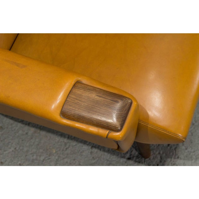 1960s High Back Danish Modern Lounge Chair For Sale - Image 5 of 10