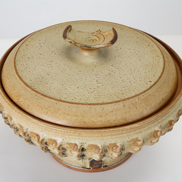 White California Modern Studio Pottery Soup Tureen by Don Jennings For Sale - Image 8 of 13