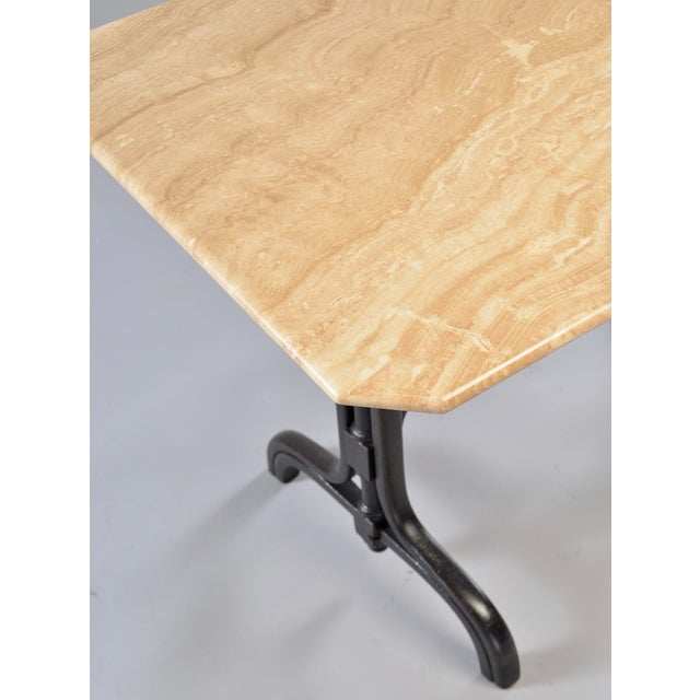 Pub Table With Marble Top and Ebonised Bentwood Base For Sale - Image 9 of 12