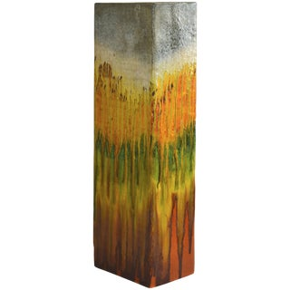 Monumental Marcello Fantoni Ceramic Vase, Umbrella Stand For Sale