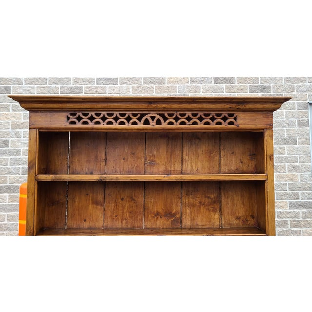 Late 19th Century Antique 19th Century Irish Pine 2 Part Chicken Coop Cupboard Cabinet Hutch For Sale - Image 5 of 13