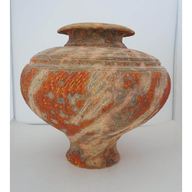 Late 20th Century Vintage Peter Andersson Australia Glazed Earthenware Artisan Pot or Vase With Papers For Sale - Image 5 of 11